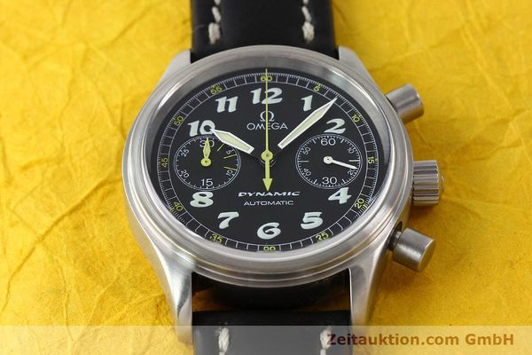 Used luxury watch Omega Dynamic chronograph steel automatic Kal. 1138  | 142955 15