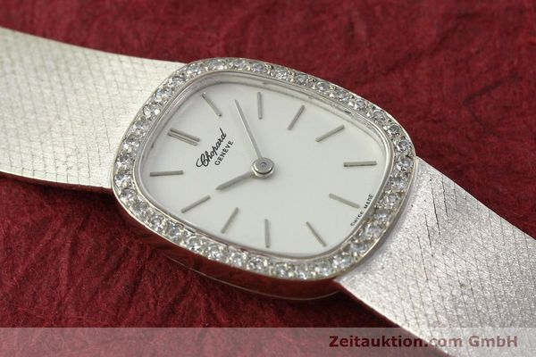 Used luxury watch Chopard * 18 ct white gold manual winding Kal. 846  | 142957 15