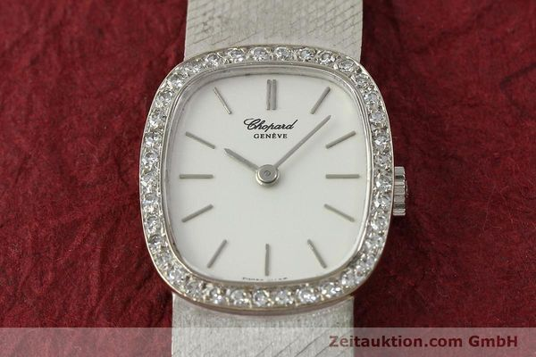 Used luxury watch Chopard * 18 ct white gold manual winding Kal. 846  | 142957 16