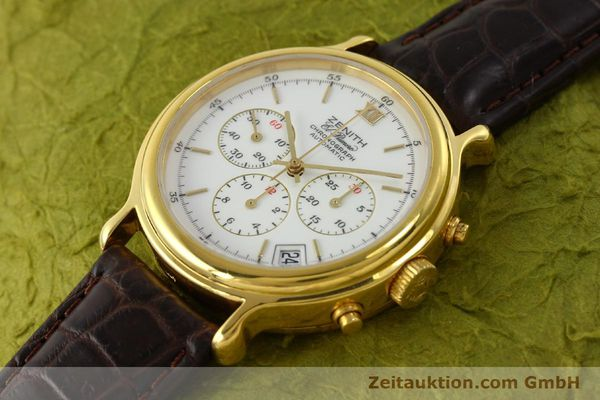 Used luxury watch Zenith Elprimero chronograph gold-plated automatic Kal. 400 Ref. 20.0020.400  | 142959 01