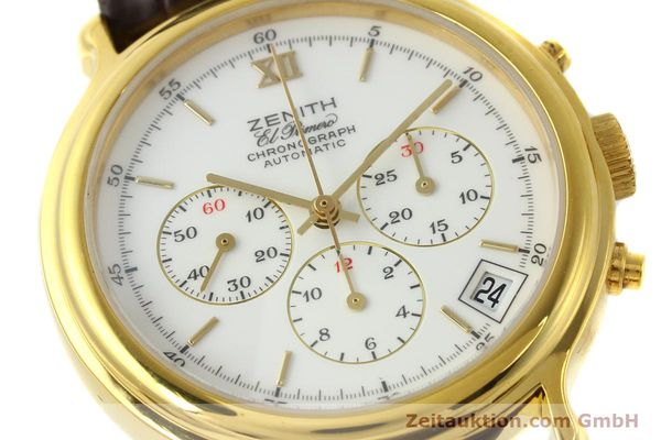 Used luxury watch Zenith Elprimero chronograph gold-plated automatic Kal. 400 Ref. 20.0020.400  | 142959 02