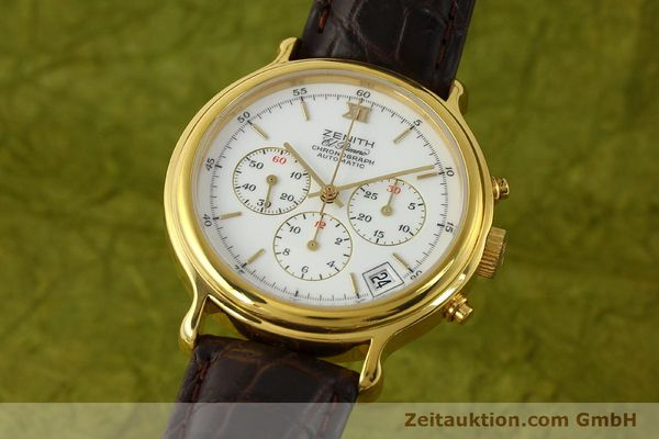 Used luxury watch Zenith Elprimero chronograph gold-plated automatic Kal. 400 Ref. 20.0020.400  | 142959 04