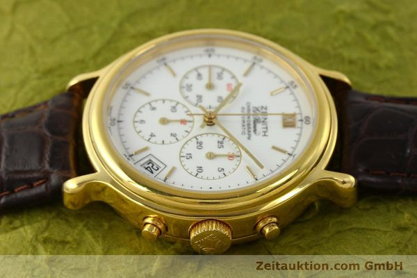Used luxury watch Zenith Elprimero chronograph gold-plated automatic Kal. 400 Ref. 20.0020.400  | 142959 05