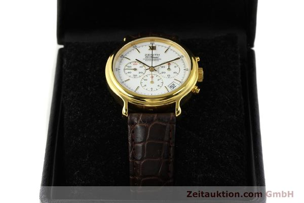 Used luxury watch Zenith Elprimero chronograph gold-plated automatic Kal. 400 Ref. 20.0020.400  | 142959 07