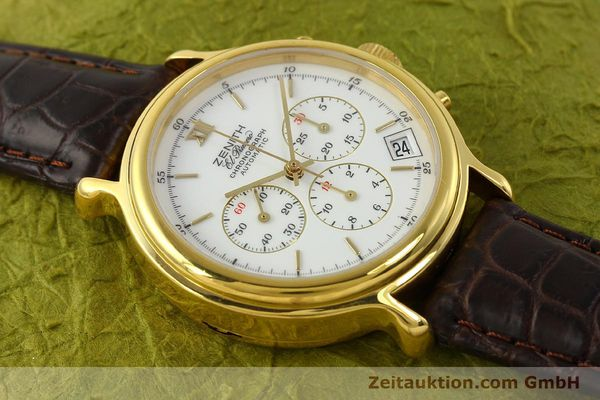 Used luxury watch Zenith Elprimero chronograph gold-plated automatic Kal. 400 Ref. 20.0020.400  | 142959 12