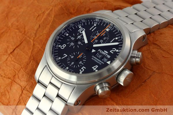 Used luxury watch Fortis B42 chronograph steel automatic Kal. ETA 7750 Ref. 635.10.141.3  | 142961 01