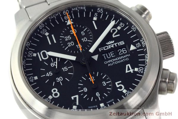 Used luxury watch Fortis B42 chronograph steel automatic Kal. ETA 7750 Ref. 635.10.141.3  | 142961 02