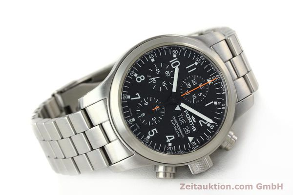 Used luxury watch Fortis B42 chronograph steel automatic Kal. ETA 7750 Ref. 635.10.141.3  | 142961 03