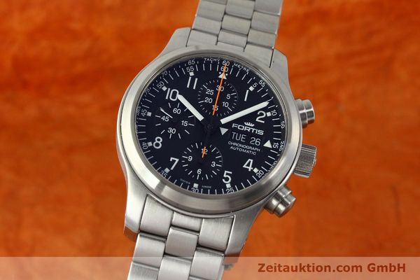 Used luxury watch Fortis B42 chronograph steel automatic Kal. ETA 7750 Ref. 635.10.141.3  | 142961 04
