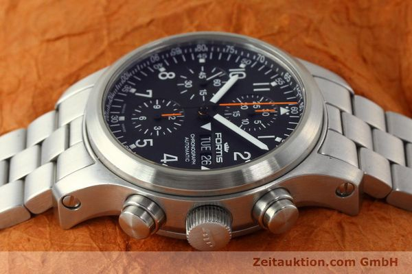 Used luxury watch Fortis B42 chronograph steel automatic Kal. ETA 7750 Ref. 635.10.141.3  | 142961 05