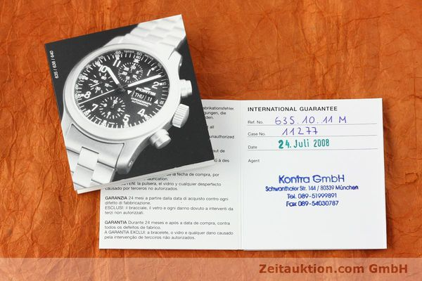 Used luxury watch Fortis B42 chronograph steel automatic Kal. ETA 7750 Ref. 635.10.141.3  | 142961 08