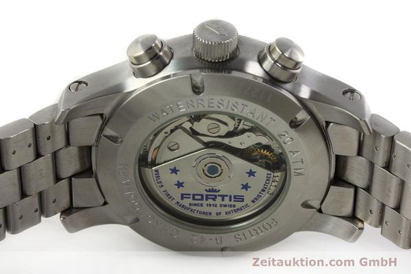 Used luxury watch Fortis B42 chronograph steel automatic Kal. ETA 7750 Ref. 635.10.141.3  | 142961 09