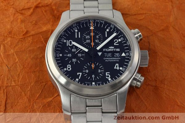 Used luxury watch Fortis B42 chronograph steel automatic Kal. ETA 7750 Ref. 635.10.141.3  | 142961 15