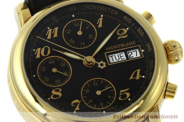 Used luxury watch Montblanc Meisterstück chronograph gold-plated automatic Kal. 4810501 ETA 7750 Ref. 7001  | 142966 02