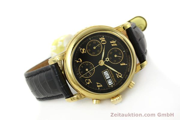 Used luxury watch Montblanc Meisterstück chronograph gold-plated automatic Kal. 4810501 ETA 7750 Ref. 7001  | 142966 03
