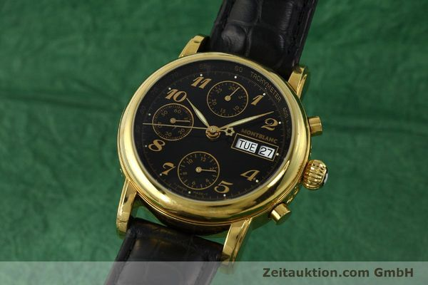 Used luxury watch Montblanc Meisterstück chronograph gold-plated automatic Kal. 4810501 ETA 7750 Ref. 7001  | 142966 04