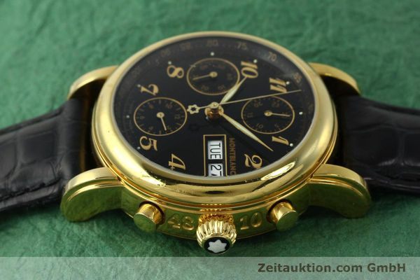 Used luxury watch Montblanc Meisterstück chronograph gold-plated automatic Kal. 4810501 ETA 7750 Ref. 7001  | 142966 05