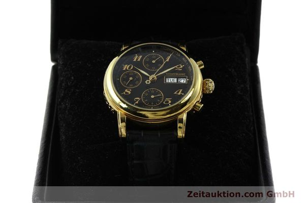 Used luxury watch Montblanc Meisterstück chronograph gold-plated automatic Kal. 4810501 ETA 7750 Ref. 7001  | 142966 07