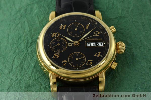 Used luxury watch Montblanc Meisterstück chronograph gold-plated automatic Kal. 4810501 ETA 7750 Ref. 7001  | 142966 14
