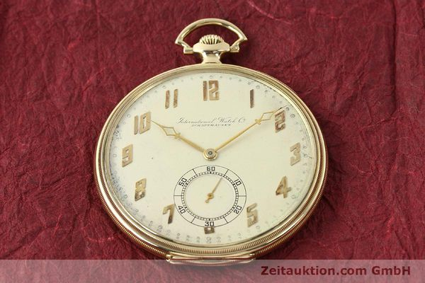 Used luxury watch IWC Taschenuhr 14 ct yellow gold manual winding  | 142969 16
