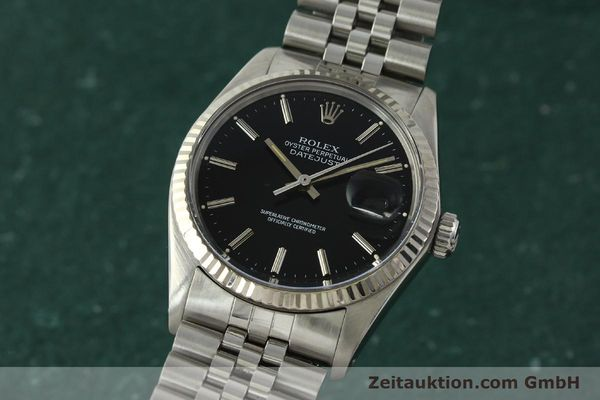 Used luxury watch Rolex Datejust steel / white gold automatic Kal. 3035 Ref. 16014  | 142971 04