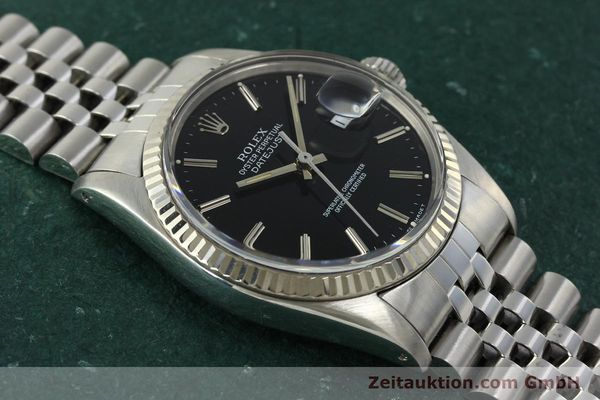 Used luxury watch Rolex Datejust steel / white gold automatic Kal. 3035 Ref. 16014  | 142971 15