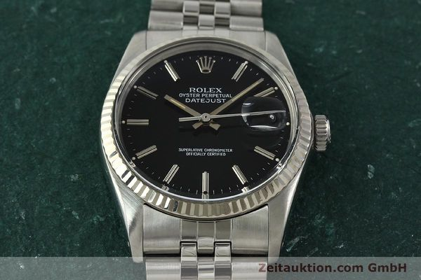 Used luxury watch Rolex Datejust steel / white gold automatic Kal. 3035 Ref. 16014  | 142971 16