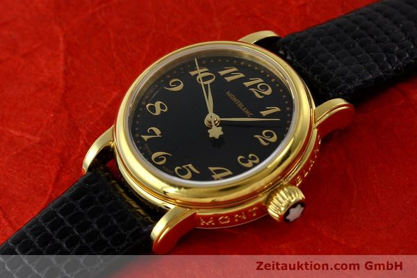 Used luxury watch Montblanc Meisterstück gold-plated quartz Kal. 4810102 ETA 956102 Ref. 7006  | 142972 01