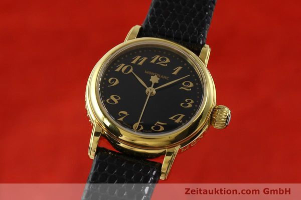 Used luxury watch Montblanc Meisterstück gold-plated quartz Kal. 4810102 ETA 956102 Ref. 7006  | 142972 04