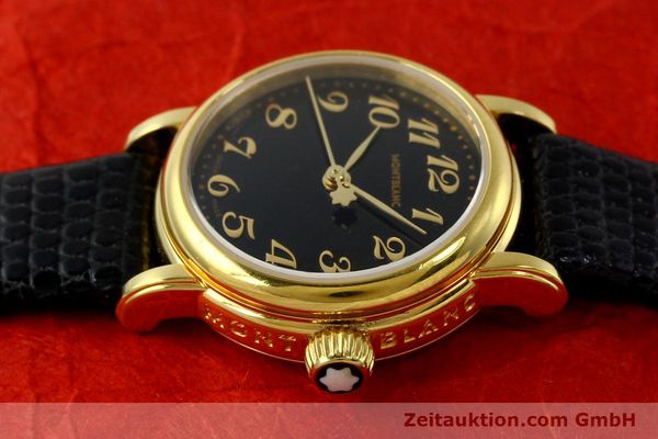 Used luxury watch Montblanc Meisterstück gold-plated quartz Kal. 4810102 ETA 956102 Ref. 7006  | 142972 05
