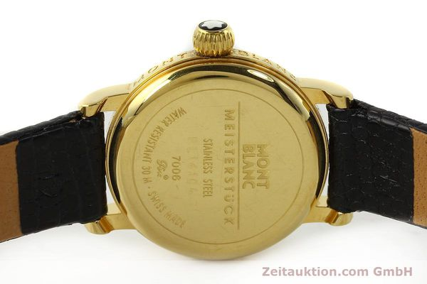 Used luxury watch Montblanc Meisterstück gold-plated quartz Kal. 4810102 ETA 956102 Ref. 7006  | 142972 09