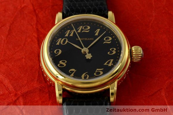 Used luxury watch Montblanc Meisterstück gold-plated quartz Kal. 4810102 ETA 956102 Ref. 7006  | 142972 14