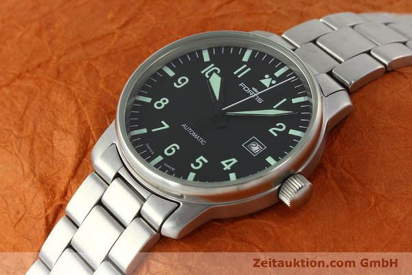 Used luxury watch Fortis Flieger steel automatic Kal. ETA 2824-2  | 142973 01