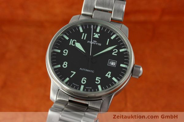 Used luxury watch Fortis Flieger steel automatic Kal. ETA 2824-2  | 142973 04