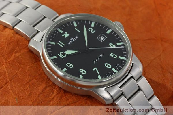 Used luxury watch Fortis Flieger steel automatic Kal. ETA 2824-2  | 142973 14