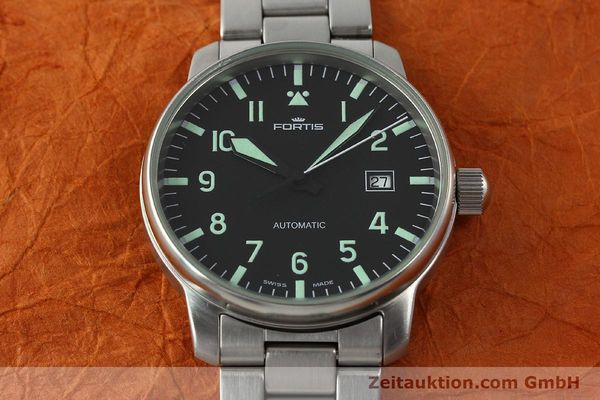Used luxury watch Fortis Flieger steel automatic Kal. ETA 2824-2  | 142973 15