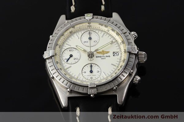 Used luxury watch Breitling Chronomat chronograph steel automatic Kal. B13 ETA 7750 Ref. A13050 LIMITED EDITION | 142974 13