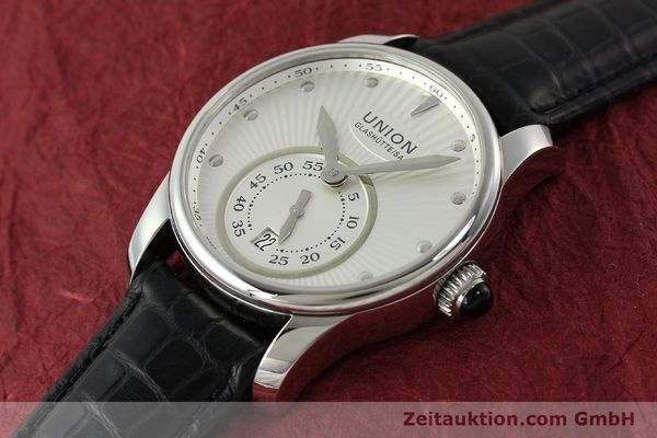 Used luxury watch Union Glashütte Seris steel automatic Kal. U2895-2 ETA 2895-2 Ref. D004.228  | 142979 01