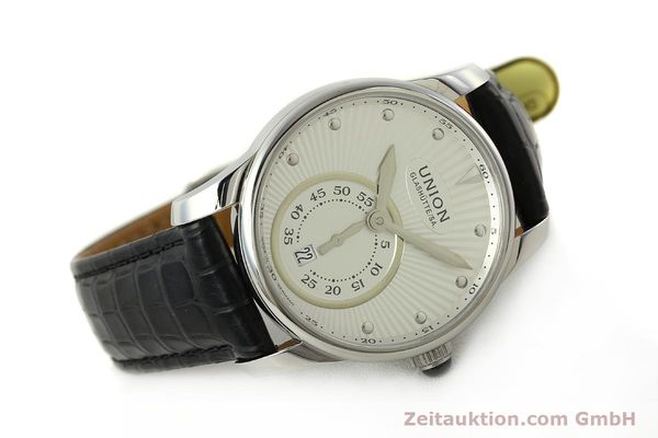 Used luxury watch Union Glashütte Seris steel automatic Kal. U2895-2 ETA 2895-2 Ref. D004.228  | 142979 03