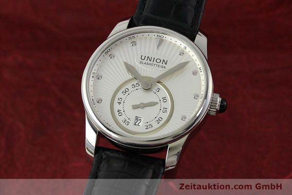 Used luxury watch Union Glashütte Seris steel automatic Kal. U2895-2 ETA 2895-2 Ref. D004.228  | 142979 04