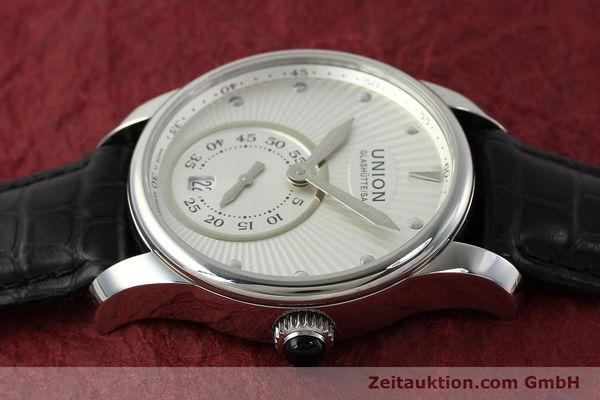 Used luxury watch Union Glashütte Seris steel automatic Kal. U2895-2 ETA 2895-2 Ref. D004.228  | 142979 05