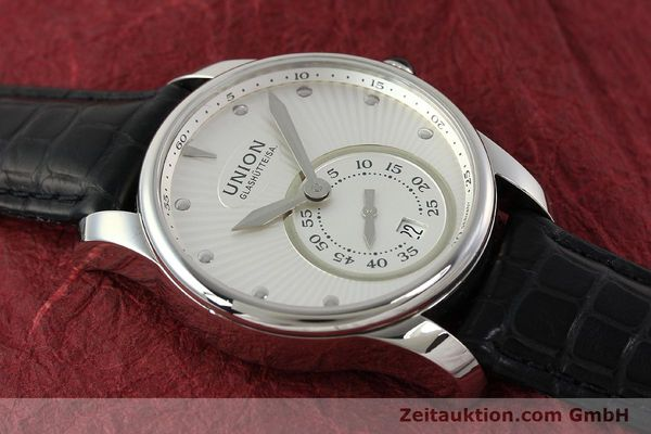 Used luxury watch Union Glashütte Seris steel automatic Kal. U2895-2 ETA 2895-2 Ref. D004.228  | 142979 13