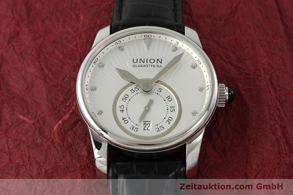 Used luxury watch Union Glashütte Seris steel automatic Kal. U2895-2 ETA 2895-2 Ref. D004.228  | 142979 14