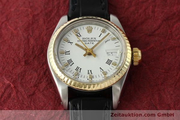 Used luxury watch Rolex Lady Date steel / gold automatic Kal. 2030 Ref. 6917  | 142980 13