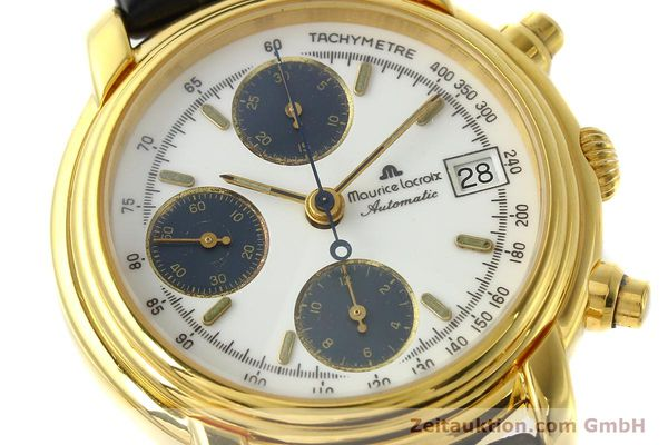 Used luxury watch Maurice Lacroix Croneo chronograph gold-plated automatic Kal. ETA 7750 Ref. 6800  | 142985 02
