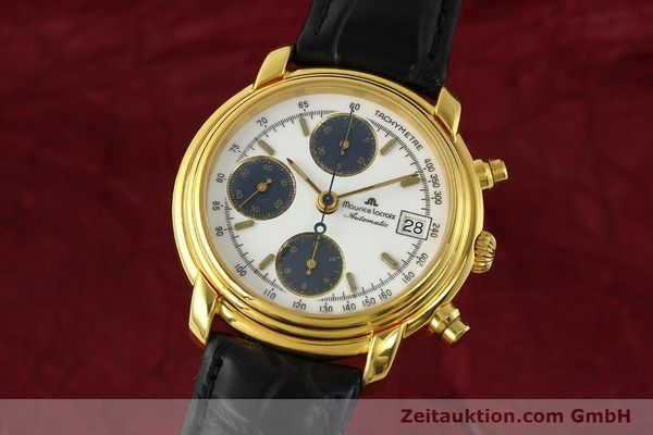 Used luxury watch Maurice Lacroix Croneo chronograph gold-plated automatic Kal. ETA 7750 Ref. 6800  | 142985 04