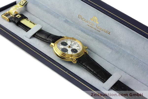 Used luxury watch Maurice Lacroix Croneo chronograph gold-plated automatic Kal. ETA 7750 Ref. 6800  | 142985 07