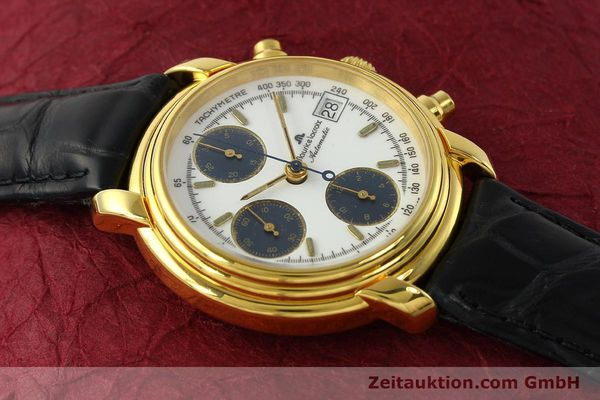 Used luxury watch Maurice Lacroix Croneo chronograph gold-plated automatic Kal. ETA 7750 Ref. 6800  | 142985 12