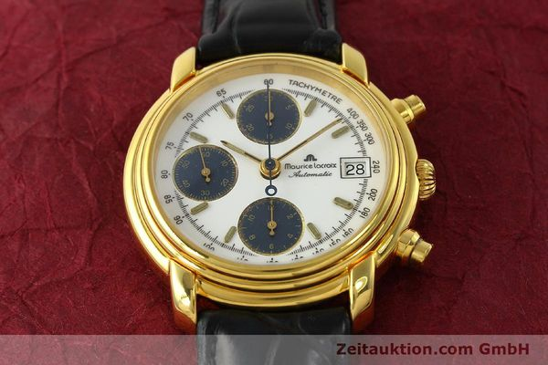 Used luxury watch Maurice Lacroix Croneo chronograph gold-plated automatic Kal. ETA 7750 Ref. 6800  | 142985 13
