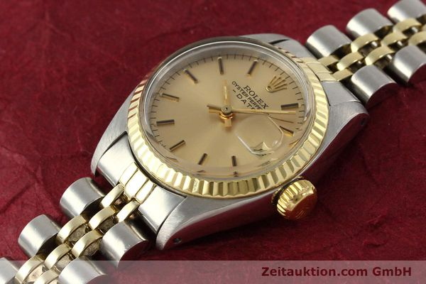 Used luxury watch Rolex Lady Date steel / gold automatic Kal. 2030  | 143000 01